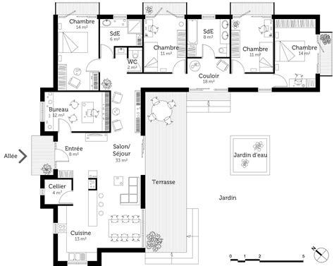 Plan D Architecte De Maison by Plan Maison Contemporaine Toit Plat Ooreka