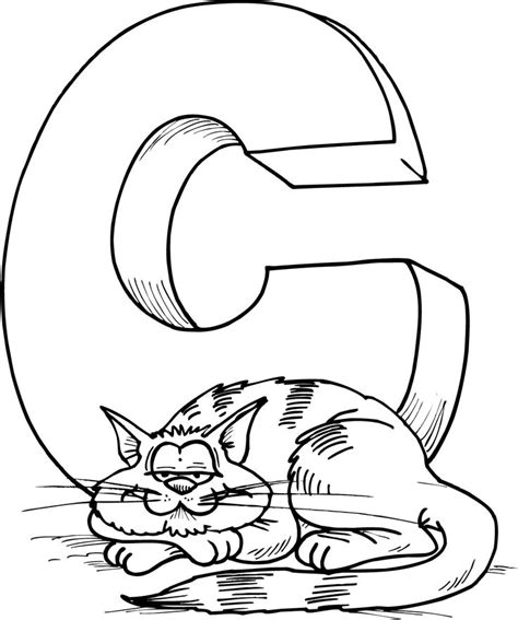 C Coloring Pages Preschool by Free Letter C Printable Coloring Pages For Preschool Cat