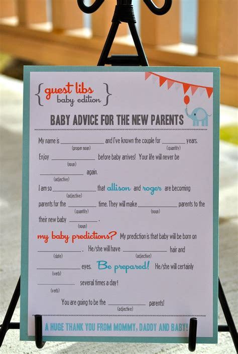 new mad libs wedding edition floral digital file 25 great ideas about baby shower guestbook on