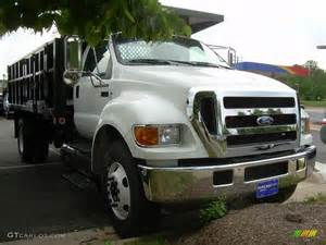 2007 oxford white ford f750 duty xl chassis regular