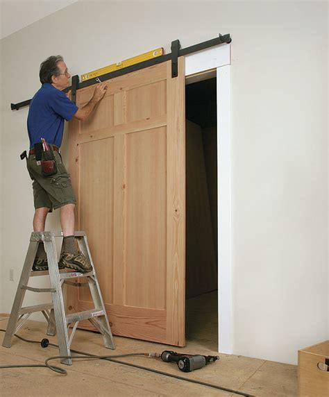 Installing Barn Doors How To Install A Sliding Barn Door Homebuilding 5 For Installing Plan Raclette Me