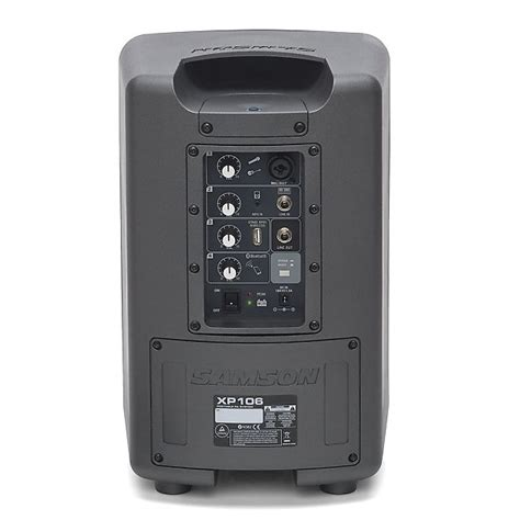 Samson Xp106 Rechargeable Portable Pa With Bluetooth samson expedition xp106 portable pa system with wired reverb