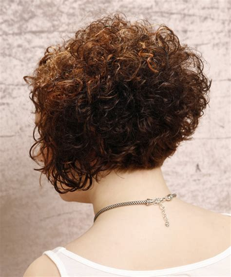 hair stacked straight front curly back short curly stacked bob hairstyles