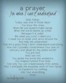 a prayer for when i can t understand god s plan