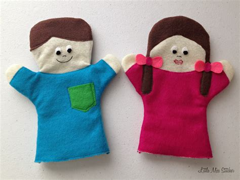How To Make A Puppet Out Of A Paper Bag - miss stitcher diy boy and felt puppets