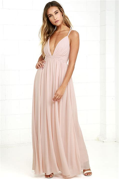 8 Pretty Blush Coloured Clothes by Blush Pink Dress Maxi Dress Blush Pink Gown 86 00