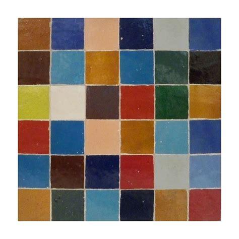 multi color square mosaic tile moroccan ceramic zellige