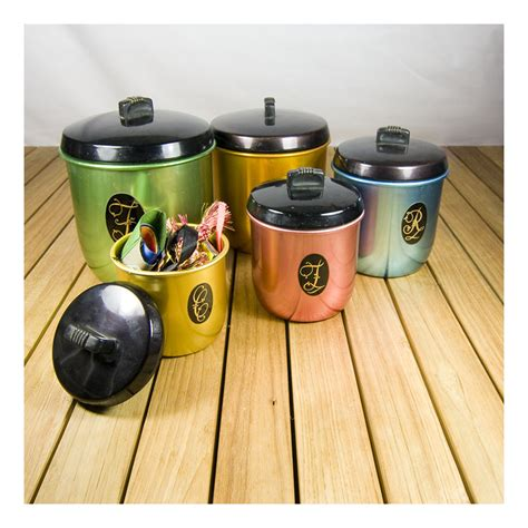 Kitchen Flour Canisters by Kitchen Canisters Re Retro