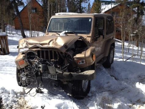 2000 jeep wrangler parts purchase used 2000 jeep wrangler salvage wreck