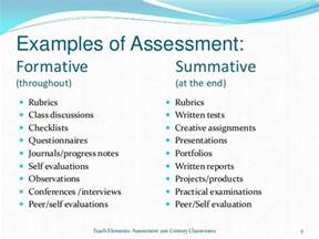 Summative Assessment Template by Formative And Summative Assessments