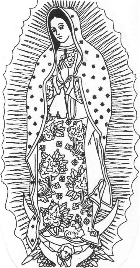 Imagenes Para Dibujar Virgen De Guadalupe | dibujos de virgen de guadalupe para colorear a lapiz a color
