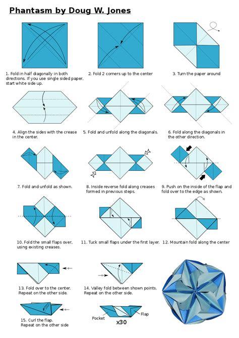 Kusudama Origami Diagrams - origamis da diagrama phantasm kusudama