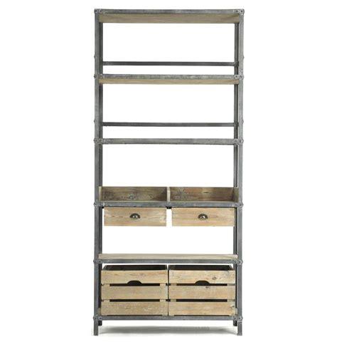 Industrial Bakers Rack by Ardsley Industrial Loft Grey Metal Bakers Rack Bookcase