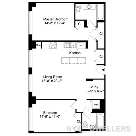 Efficiency Apartment Floor Plans by Nyc Apartment Building Floor Plans