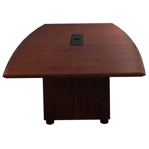 steelcase used wood veneer 8ft conference table mahogany