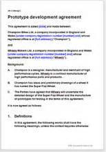 prototype design  agreement