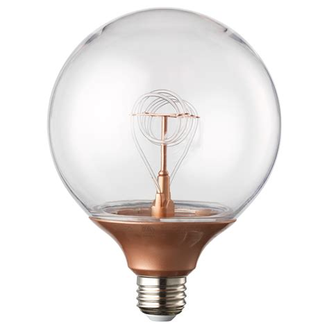 Led Light Bulbs E27 Nittio Led Bulb E27 20 Lumen Globe Copper Colour 120 Mm Ikea