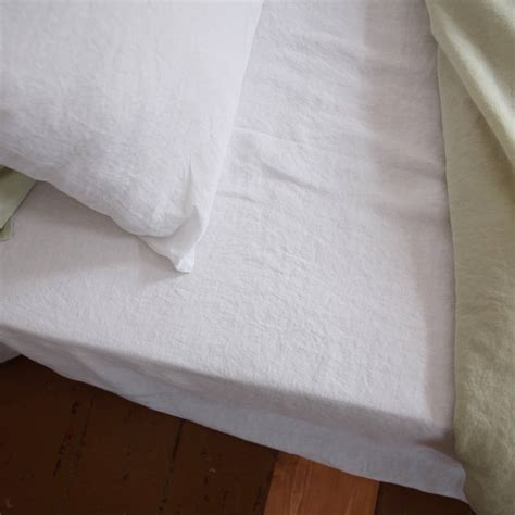 flat bed sheets stone washed bed linen flat sheet by linenme