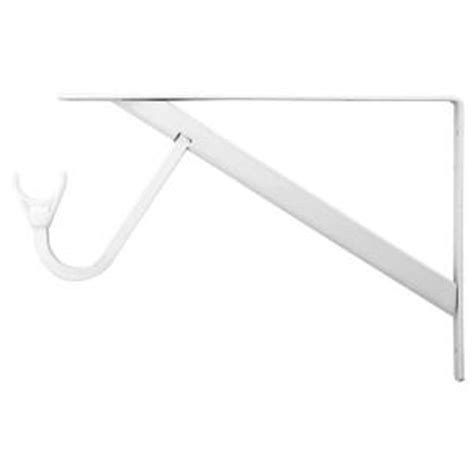 closet pro 11 1 4 in heavy duty white shelf and rod