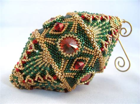 pattern tutorial beaded christmas ornament by