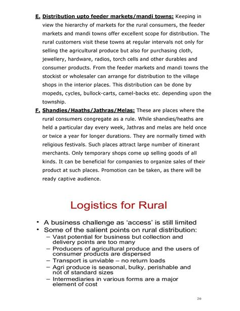Rural Management Mba Notes by Rural Marketing Notes