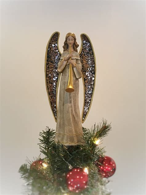 unique tree topper angel with mosaic wings and by summitarbor