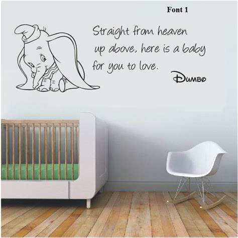 nursery wall stickers ebay wall stickers dumbo the elephant from heaven