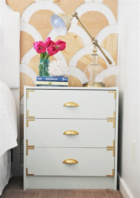 the nightstand is a mini ikea hack of the trysil dresser diy caign style nightstands ikea rast hack