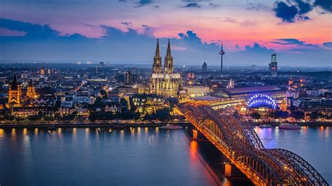 germany cologne bridge building city full hd  wallpaper