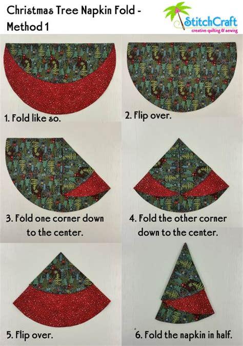 pattern folded christmas tree napkin fold and stitch wreath pattern google search christmas
