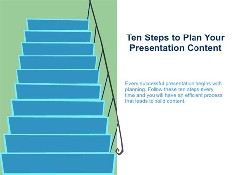 10 Steps To Help You Your by Ten Steps To Plan Your Presentation