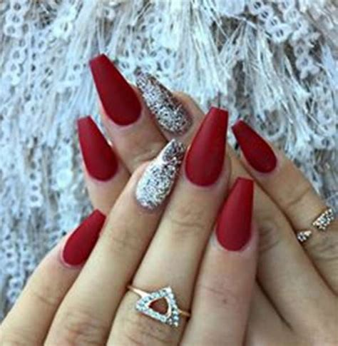 black and red love pattern fake nails japanese cute false 61 acrylic nails designs for summer 2018 style easily