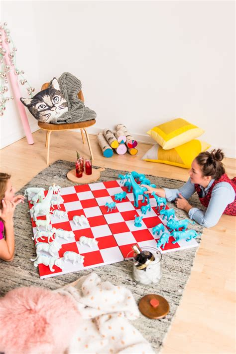 diy chess set check mate how to entertain for the holidays with a