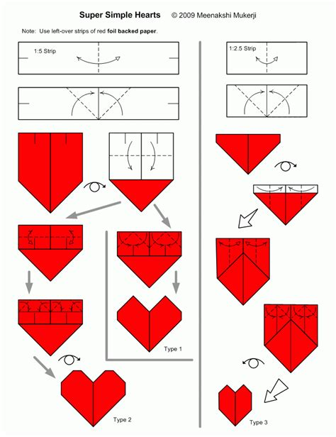 How To Create Origami - simple hearts
