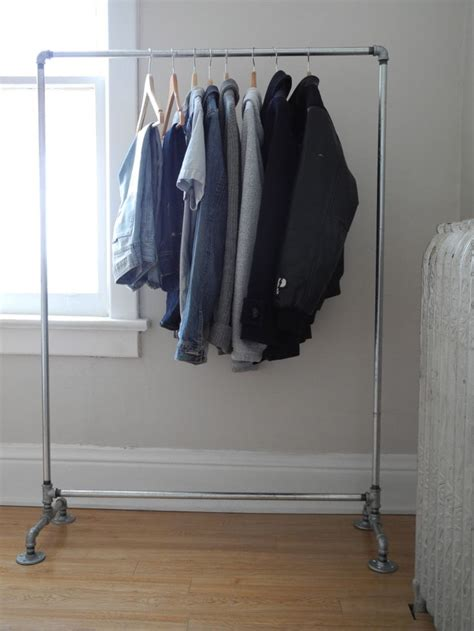 galvanized pipe clothes rack diy crafts