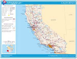 large detailed map of california state california state