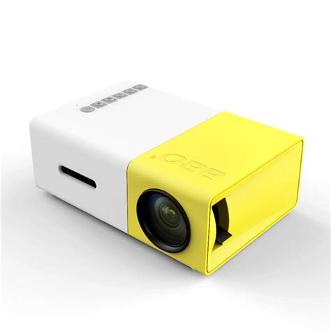 Portable Mini Led Projector Gm60hd yg 300 lcd mini support 1080p portable led projector home