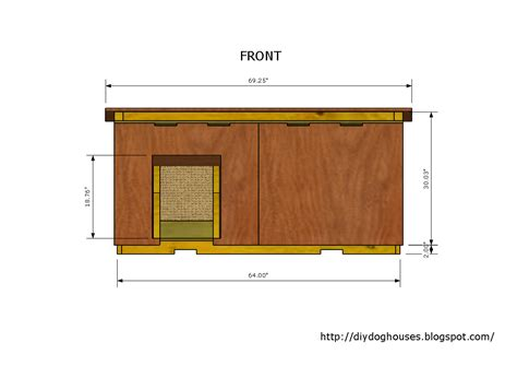 insulated dog house blueprints free dog house plans for large dogs