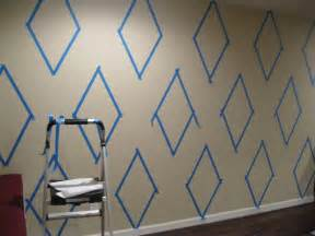 paint on wall how to paint a diamond pattern on your wall maison d or