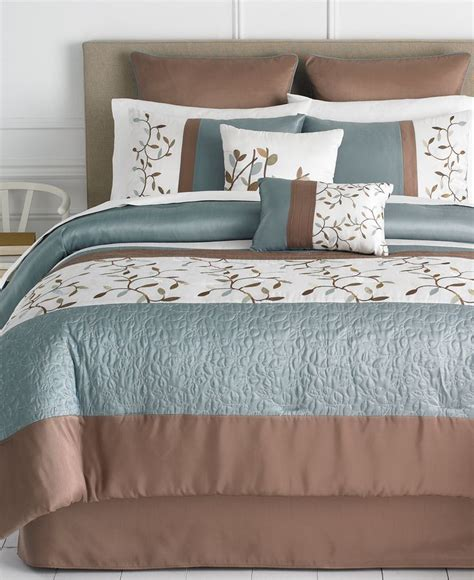 macy comforter sets woodbury 8 piece queen comforter set bed in a bag bed