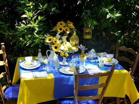 summer party ideas citrus themed lemon and lavender provence brunch tablescape party