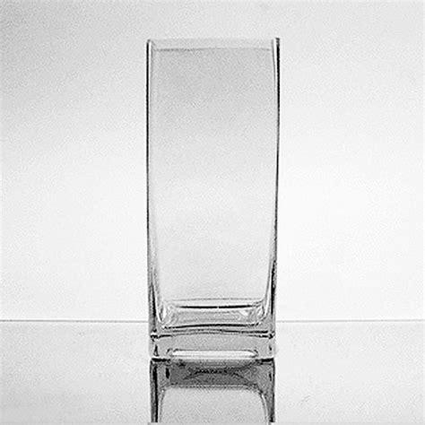 Rectangular Vase by Glass Rectangular Vase 8 Quot X 3 Quot