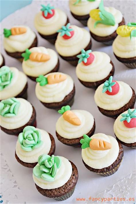 7 vegetables that kill abdominal veggetable garden mini cupcakes by www fancyparties es
