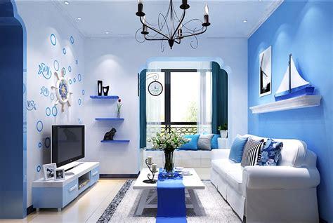 Koko Al Ghifari Biru Pastel Kombinasi Krem 41 ide warna cat ruang tamu yang cantik terbaru dekor rumah