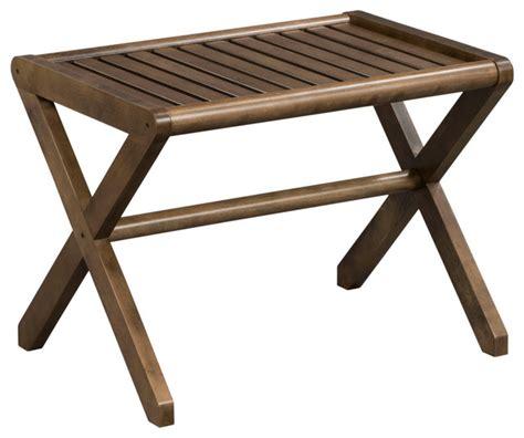 abingdon solid birch wood large stool transitional