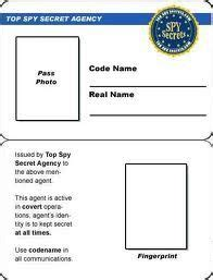 Cia Id Card Template Maker by Secret Badge Template Free Printable Search