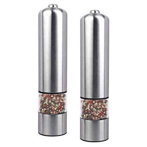 elektrische led salz oder pfeffermuehle gewuerzmuehle unbefuellt mit keramik mahlwerk im test
