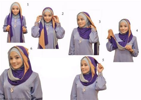 berhijab tutorial hijab pashmina kaos simple tutorial hijab pashmina kaos simple