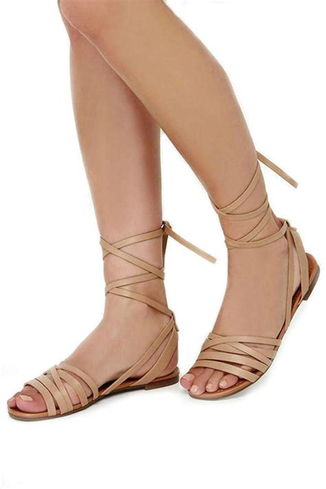 leg wrap sandals breckelle s leg wrap sandal from california by that s