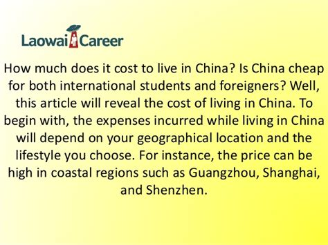 how much does it cost to live comfortably cost of living in china